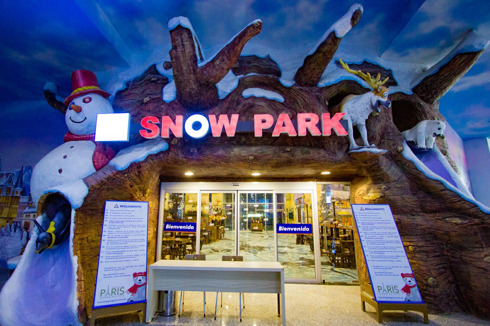 09 dicas do que fazer em Foz do Iguaçu quando chove Snow Park