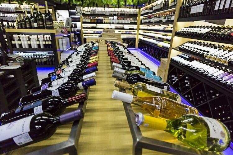 Imagem tirada da sessão de vinhos da Cellshop