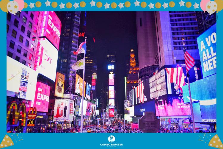 Times Square - Nova York - EUA - lugares para passar o ano novo no mundo