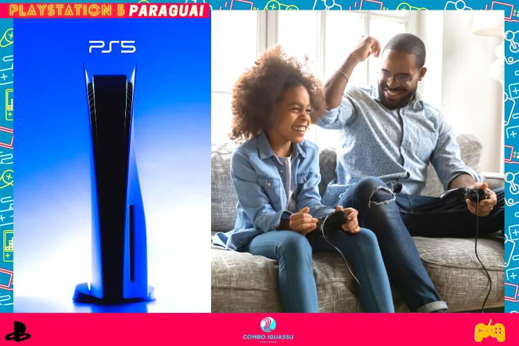 Playstation 5  | Família  jogando console