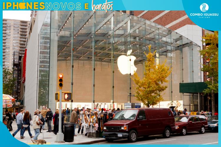 Loja da Apple nos EUA - iPhones Novos e Baratos