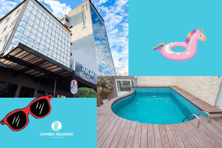 Um dos hotéis em Foz do Iguaçu com piscina, o Hotel Tarobá, um lugar incrível.