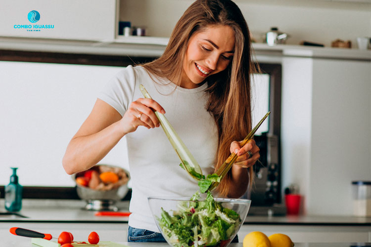 comida vegetariana imagem ilustrativa